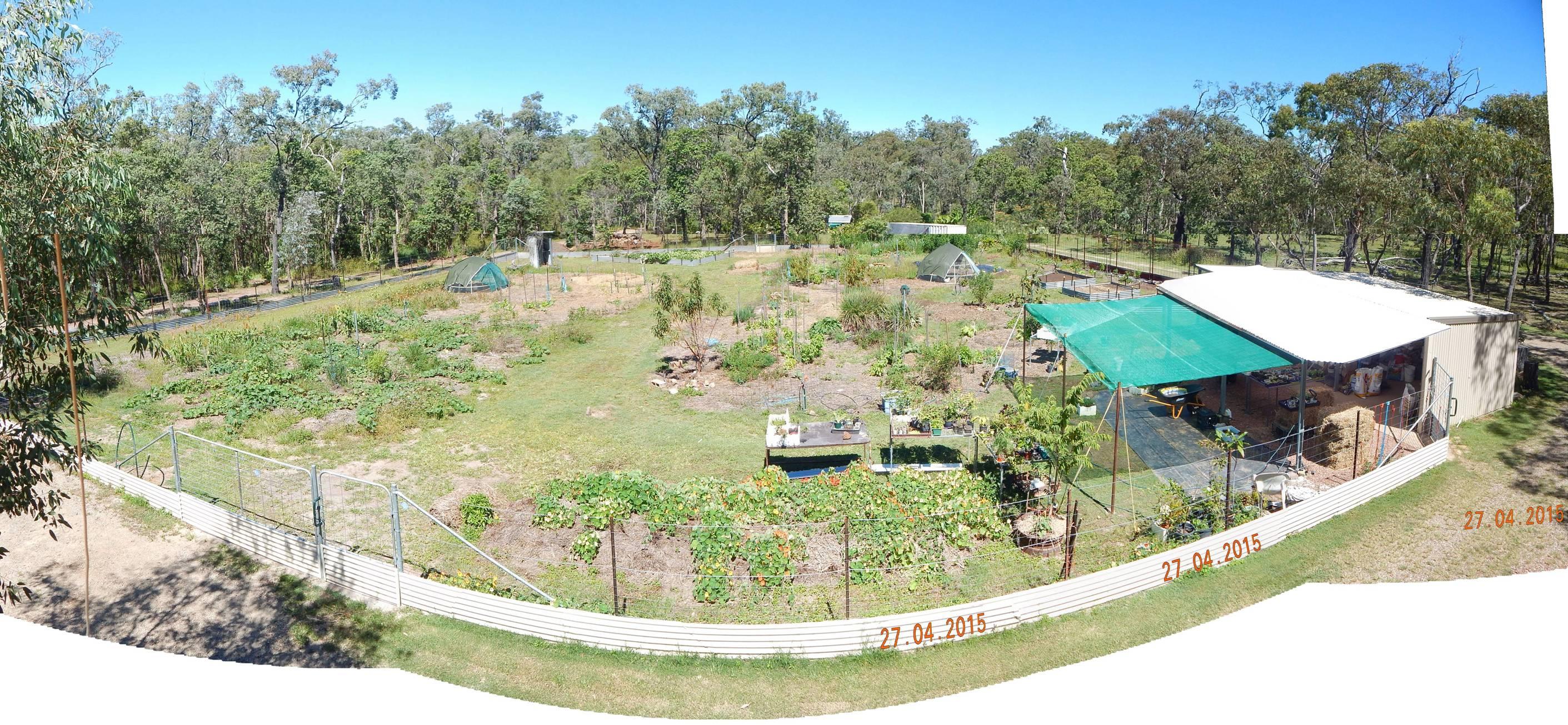 garden development time lapse